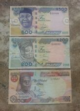 LOT 3 WORLD CURRENCY PAPER MONEY  BANKNOTES NIGERIA SET 2001 2003 VG CIRCULATED