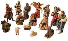 "Faithful Treasure 15-Piece Christmas Figurine Set. 4"" Tabletop Nativity Scene"