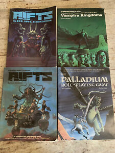 Lot of 4 Palladium Books: RIFTS, Vampire Kingdom, Role-Playing