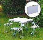 Folding Picnic Table 4 Seat Portable Set Outdoor Aluminum Camping Garden Park
