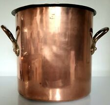 French dovetailed copper pan stock pot faitout roast 1.5mm walls