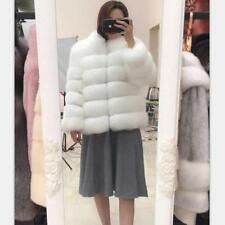 NEW Womens Fox Fur Winter Coat Jacket Thicken Warm Parka Outwear Ladies Overcoat
