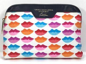 Estée Lauder Makeup Bag Lip Design 100% cotton (Pink, Red, Purple, Orange, Blue)