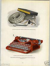 1927 PAPER AD Smith Corona Typewriter Rand Kardex Commercial Printing Award Win