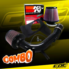 For 08-14 Impreza WRX/STI 2.5L 4cyl Black Cold Air Intake + K&N Air Filter