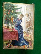 Victorian Christmas Trade Card German French & English Toys Dolls Lawn Tennis Z9