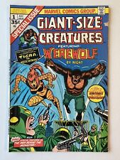 Giant-Size Creatures #1 (Marvel 1974) Werewolf By Night 1st App. Tigra! FREE S/H