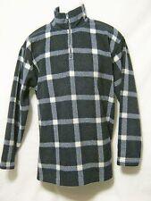 JONES NEW YORK Sport Vtg 80s/90s Womens 1/4 Zip Sweater L/Large Blue/White Plaid