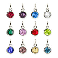 new 12pcs birthstone hang pendant charms fit necklace phone strip Free shipping