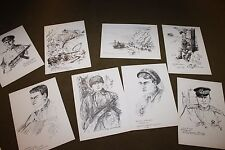 Original Soviet (Russian) WW2 War Hero's 46 Print Collection from 1980