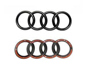 Brandneues Schwarz Glänzendes Ringe Emblem Logo Für Audi A1 A2 A3 A4 192mm x67mm