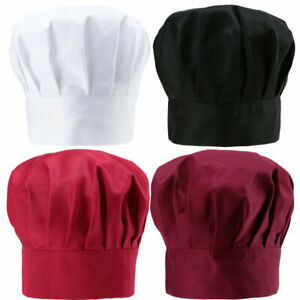 Professional Chefs Catering Hat Men Cap Cook Food Prep Kitchen Round Cap US