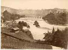 Suisse, Rheintall  Vintage albumen print  Tirage albuminé  17x22  Circa