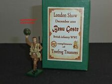 BEAU GESTE Fanteria Britannica ww1 London Show 2010 METAL Toy Soldier Figure Set