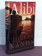 1st, signed by author, Alibi by Joseph Kanon (2005) thriller set in 1946 Venice