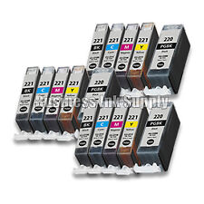 15 New Ink Set for Canon CLI-221 PGI-220 Pixma MX860