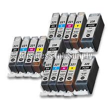 15 New Ink Set for Canon CLI-221 PGI-220 Pixma MX860