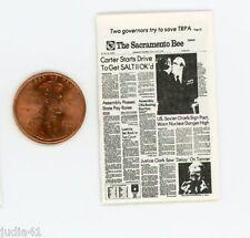 Miniature Dollhouse Newspaper / The Sacramento Bee