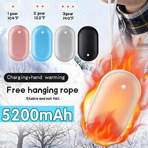 Heating Mini USB Charger Hand Warmer 5200mah Power Bank Hand Heating Stove