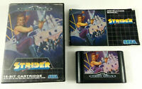 Jeu Sega Mega Drive en boite PAL  Strider  avec notice  Envoi rapide et suivi