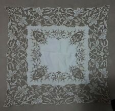 Vintage Madeira Tablecloth - exquisite detail, very fine embroidery and cut work