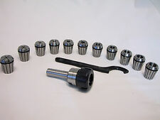 New List Sale, 3/4 Straight Shank ER32 Chuck With 11 PC Collets Set