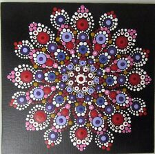 """Mandala """"Outback Dreaming"""" Healing Canvas - Hand Painted In Australia"""