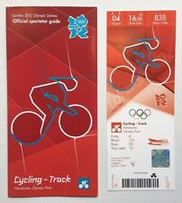 LONDON 2012 TICKET CYCLING TRACK LAURA TROTT GOLD 04 AUG & SPECTATOR GUIDE