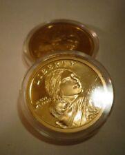2004 S Native American 24 KT GOLD,Sacagawea Dollar Deep GEM Cameo US Proof Coin