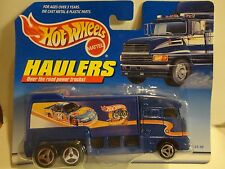 Hot Wheels Haulers Blue Semi Coach Truck