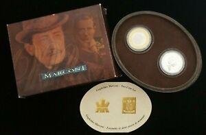 2001 Royal Mint Marconi (2) Coin Set