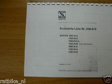 S0010 SACHS---ERSATZTEILLISTE---1001/5A + 1251/5A + 5AL + 5B + 6A + 6B-MODEL