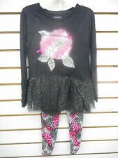 Girls Limited Too $42 Dress Top W/T Leggings 2PC. Set Sizes 4, 5, 6 & 6X