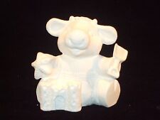 12 Month Calender Cow August - Ceramic Bisque Ready to Paint