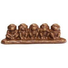 Traditional style Monkey Bunchin Japanese Nanbu cast iron paper weight ornament