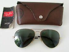 RAY BAN AVIATOR RB 3026 L2846 ITALY 62 14 GREEN LENS SUNGLASSES CASE BOOKLET