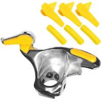 Car Tire Changer Stainless Steel Metal Mount Demount Duck Head Set Tool Silver