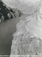 CD-223 ID, Salmon River, Box Canyon Real Photo Postcard RPPC Idaho N & S Highway