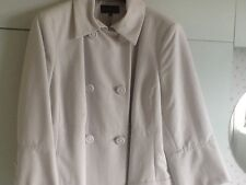 "Marks and Spencer's ""Limited Edition"" 100% Cotton Full Length Coat Cream Size 20"