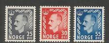 Norway 1951-52 King Haakon VII definitives (322-24) MH