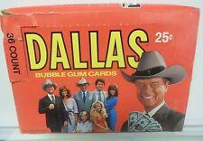 DALLAS Donruss Trading Cards FULL Box 36 PACKS Lot 1981 TV SHOW J.R.
