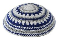 Kippa Jewish Menorah Yarmulke Israel Zionist Green Knitted Head Covering 19cm
