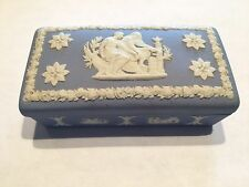 WEDGEWOOD 76 Blue Ring Box Rectangular