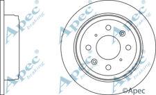 REAR BRAKE DISCS (PAIR) FOR ROVER 25 GENUINE APEC DSK257