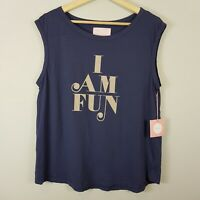 BAN.DO | Womens ' Iam Fun ' Graphic Tank / Top NEW [ Size L or AU 14 / US 10 ]