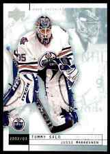 2002-03 Upper Deck Mask Collection Jussi Markkanen Tommy Salo #34