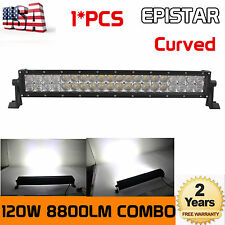 4D+Curved 22inch 120W Flood Spot Led Light Bar Driving Jeep Boat Offroad EPISTAR