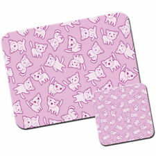 Kawaii Cute Fang Cats Kittens Mouse Mat / Pad & Coaster