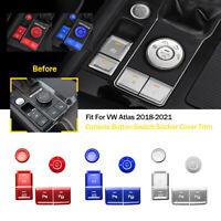 For VW Atlas 2018-2021 Aluminum Alloy Console Button Switch Sticker Cover Trim
