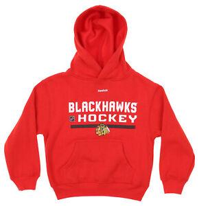 Reebok NHL Hockey Boys Kids Chicago Blackhawks Freeze Hoodie, Red